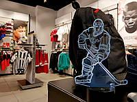 """Детский ночник - светильник """"Хоккеист"""" 3DTOYSLAMP, фото 1"""