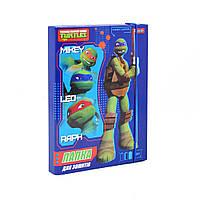 """491520 Папка для тетрадей картоная В5 1 Вересня """"Ninja Turtles"""", фото 1"""