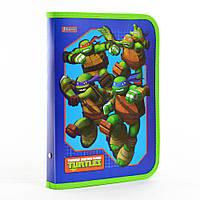 "491373 Папка для тетрадей пластик на молнии В5 1 Вересня ""Ninja Turtles"", фото 1"