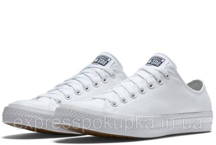 Женские мужские кеды Converse CHUCK TAYLOR ALL STAR 2 белые низкие White low 3d87dbc80c1d6