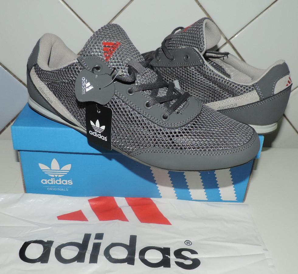 Кроссовки Adidas Daroga летние. Сетка+натуральная кожа. Производство  Индонезия, реплика 51a37be35cb
