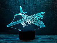 """Детский ночник - светильник """"Самолет 4"""" 3DTOYSLAMP, фото 1"""