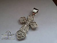 Мужской нательный крест из серебра. (14.5 г)