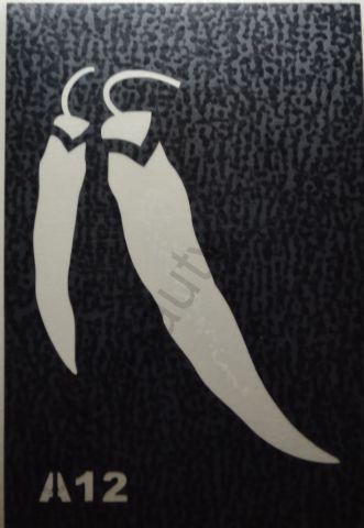 Трафареты для боди-арта, био-тату А12
