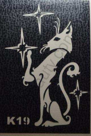Трафареты для боди-арта, био-тату K19