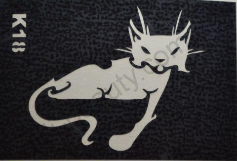 Трафареты для боди-арта, био-тату K18