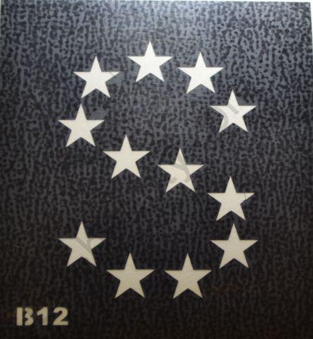 Трафареты для боди-арта, био-тату B12