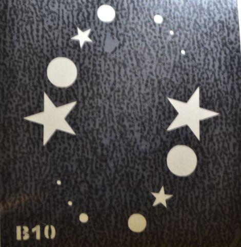 Трафареты для боди-арта, био-тату B10