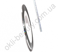 Декоративная самоклеющаяся лента (0,8 мм) Цвет: серебро