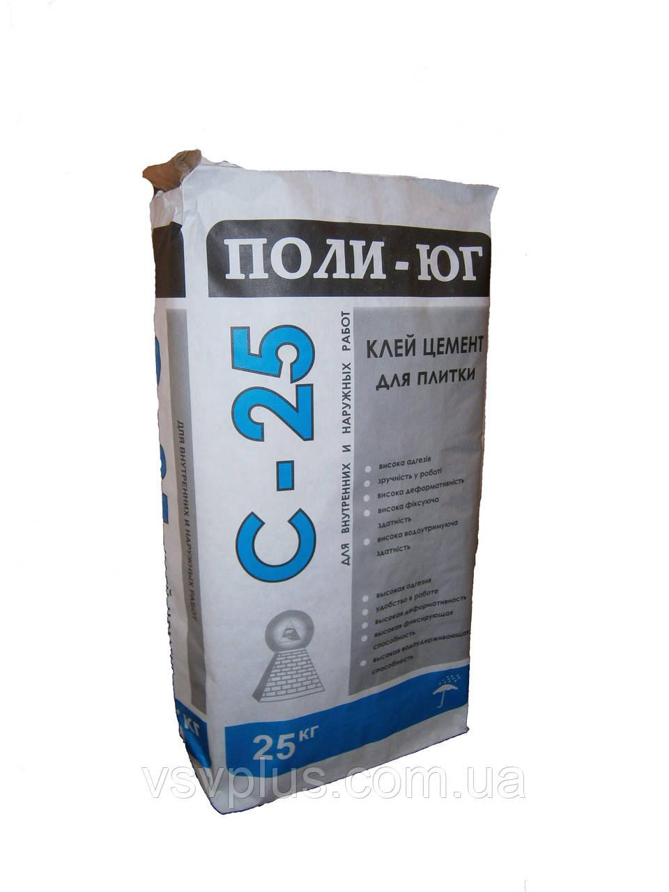 Сухой клей цемент C-25 в мешках