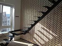 Каркас лестницы на центральной несущей с поворотом 90 гр, фото 1