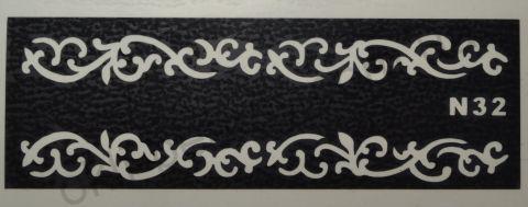 Трафареты для боди-арта, био-тату  N32