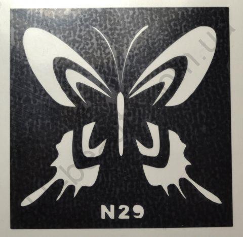 Трафареты для боди-арта, био-тату  N29