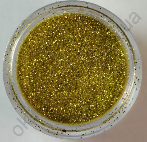 Блёстки (глиттер) светло-золотые  в банке, 3,5 гр