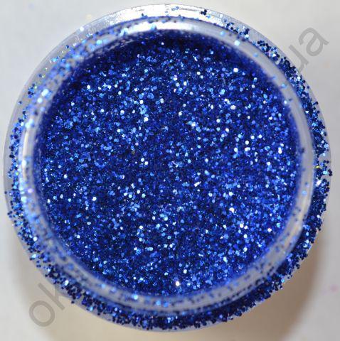 Блёстки (глиттер) синие в банке, 3,5 гр