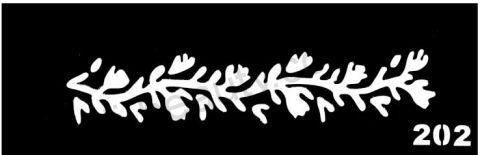 Трафареты для боди-арта, био-тату  L202