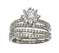 Кольцо фирмы XР. Цвет: серебряный. Камни: белый циркон.  Есть 16 р. 17 р.