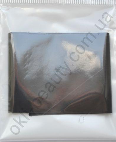 Фольга для дизайну нігтів, литва (перекладна). Колір: матовий темно-сіра (мокрий асфальт) (Розмір: 4 см на 1 метр)