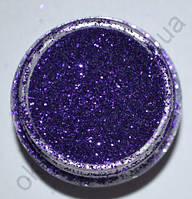 Блёстки (глиттер) фиолетовые в маленькой банке, 3,5 гр