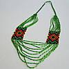 Украинское украшение из бисера Орнамент зеленый