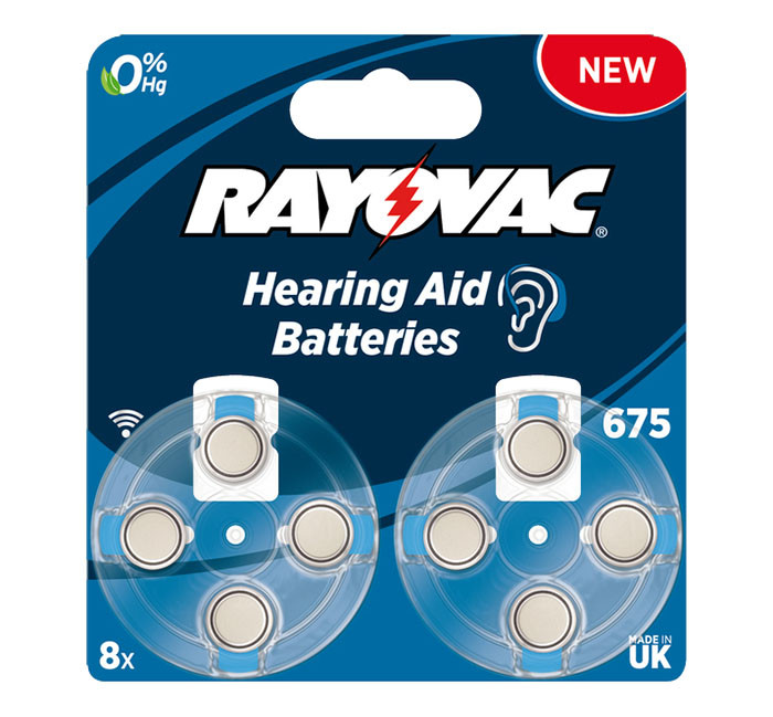 Батарейка VARTA Rayovac675 BLI 8