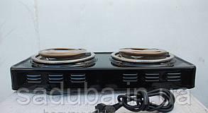 Электроплита 2 конфорки широкий тен ЭЛНА Винница