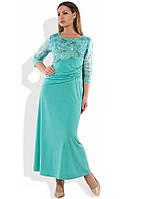 Вечернее платье женское ментоловое размеры от XL ПБ-271