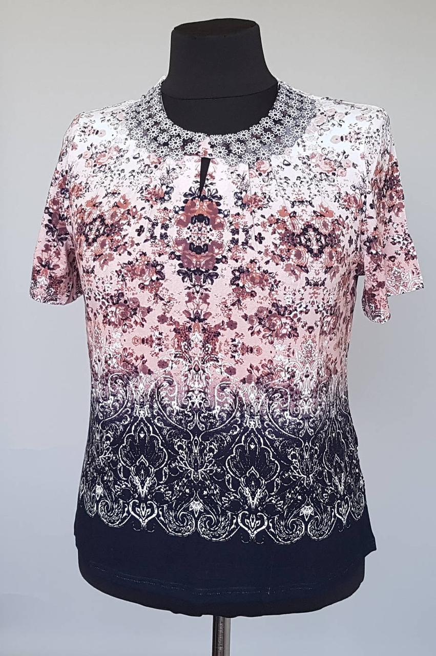 Оригинальная летняя блуза большого размера