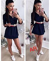 Женское платье туника с элегантным поясом, в расцветках., фото 1