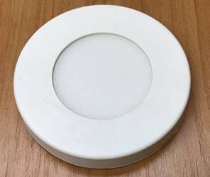 Светодиодный cветильник накладной ультратонкий SL3L 3W 5000K круглый белый Код.59252