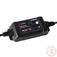 INTERTOOL Зарядное устройство 6/12В, 2А, 230В, максимальная емкость аккумулятора 1.2-60 а/ч, AT-3022
