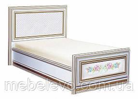 Принцесса Кровать односпальная 80х190 1040х990х1950мм белый + золото   Скай