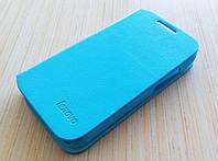 Чехол книжка оригинальный для Lenovo A316i голубой