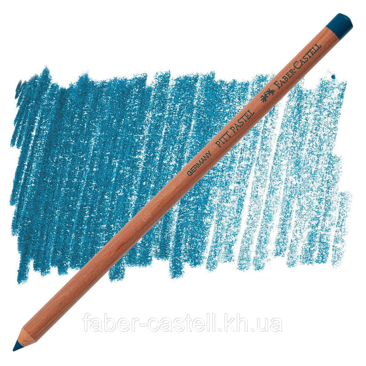 Карандаш пастельный Faber-Castell PITT гелио-бирюзовый  ( pastel helio turquise) № 155, 112255