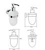 BEMETA OVAL: Настенный дозатор для жидкого мыла (стекло), фото 2