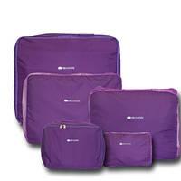 Дорожные сумки-органайзеры в чемодан ORGANIZE фиолетовые 5 шт, фото 1