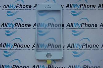 Стекло корпуса для Apple iPhone 5 с рамкой / OCA пленкой  / белое