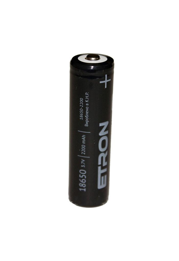 Аккумулятор литий-ионный ETRON Ultimate Power 18650 2200mAh, 1 pcs 5, 50