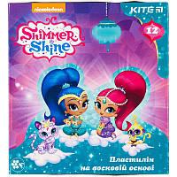 Пластилин восковой (12 цветов, 240 г) KITE 2018 Shimmer&Shine 1086 (SH18-1086)