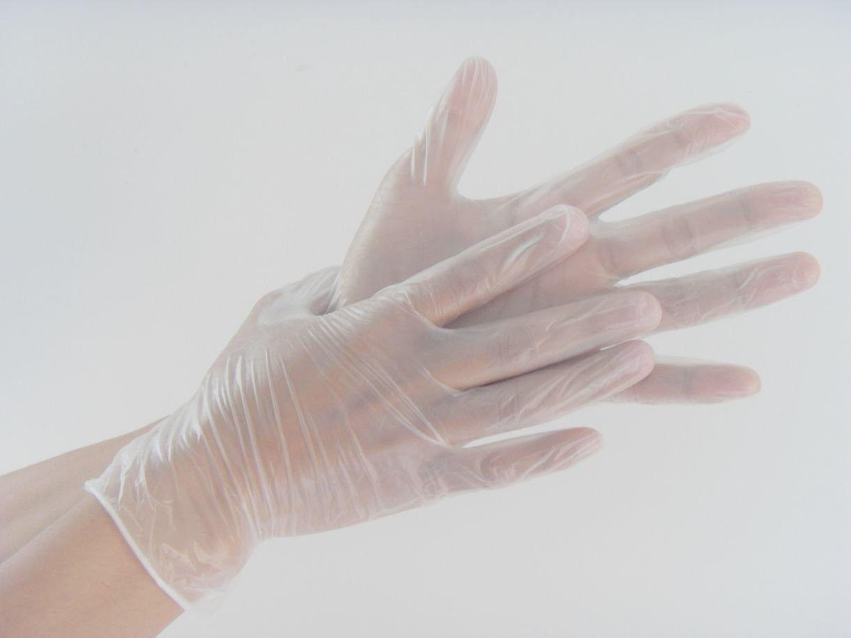 Виниловые перчатки L