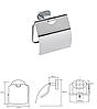 BEMETA OVAL: Держатель туалетной бумаги с крышкой, фото 2