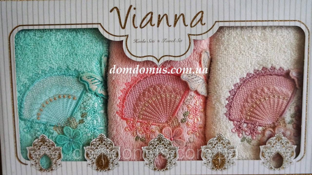 Набор махровых полотенец в подарочной упаковке 30*50 Vianna 3D, Турция