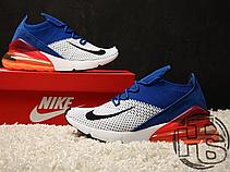 Мужские кроссовки Nike Air Max 270 Flyknit Blue/Red/White AO1023-101, фото 2