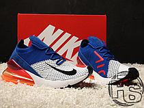 Мужские кроссовки Nike Air Max 270 Flyknit Blue/Red/White AO1023-101, фото 3