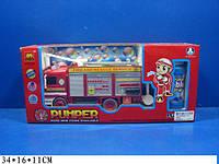 """Муз.""""Пожежна машина"""" B928A батар.,світ., муз.,пускає мильні пузирі,в кор. 34*16*11 см"""
