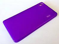 Чехол силиконовый однотонный матовый для Lenovo K3 Note / A7000 сиреневый