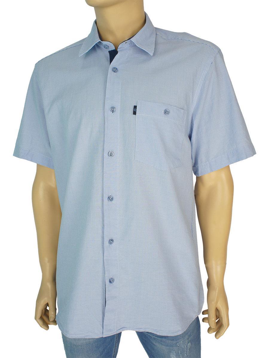 Хлопковая мужская рубашка Negredо 0310 indigo C размер М