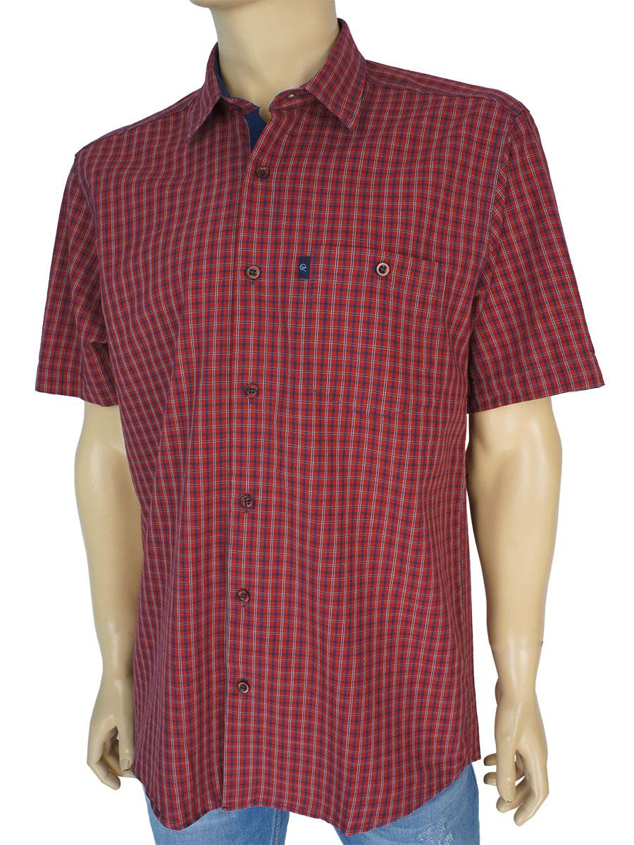 Рубашка в клетку для мужчин Negredо 0310 indigo C размер L