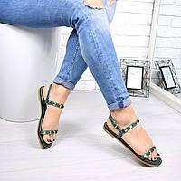 Босоножки женские Benny зеленые 4732 летняя обувь