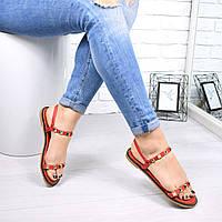 Босоножки женские Benny красные 4733 летняя обувь